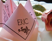 CUSTOM ORDER for Allison W- Cootie Catchers- Origami Wedding Menus, Set of 83