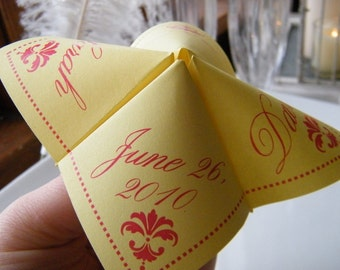 SAMPLE- Cootie Catcher Origami Wedding PLACE CARD