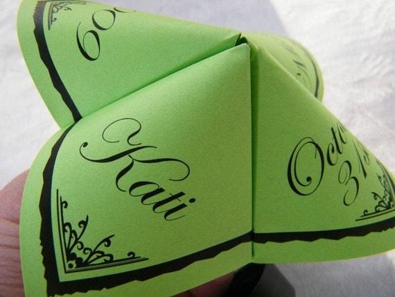 Cootie Catchers-Origami Wedding PROGRAMS- Set of 25