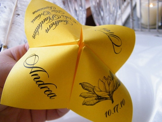 SAMPLE Cootie Catcher- Origami Wedding PROGRAM