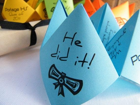 Cootie Catchers- Origami Graduation Announcements / Invites Set of 25