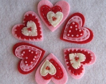 Red Cream Pink Valentine Hearts