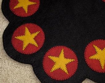 Wool Felt Star Candle Mat