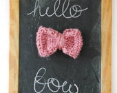 knit bow-  lightly lavender