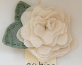 LARGE Rosy Posy Hair Clip in Ivory