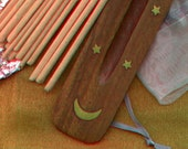 Aphrodite Hand-Dipped incense sticks - 20 sticks with FREE wooden holder in Organza Bag