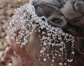 PHOEBE --- Crystal and Pearl Bead Tiara