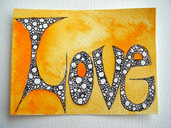Love Original ACEO