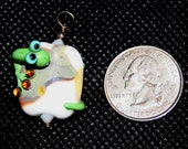 Beautiful Lampwork Lizard Bead