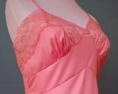 Vintage Vanity Fair Slip Bubblegum Pink 1950's - Small\/Medium