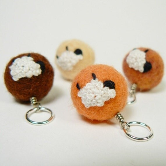 Felted Stitch Markers - Sheep (Autumn)