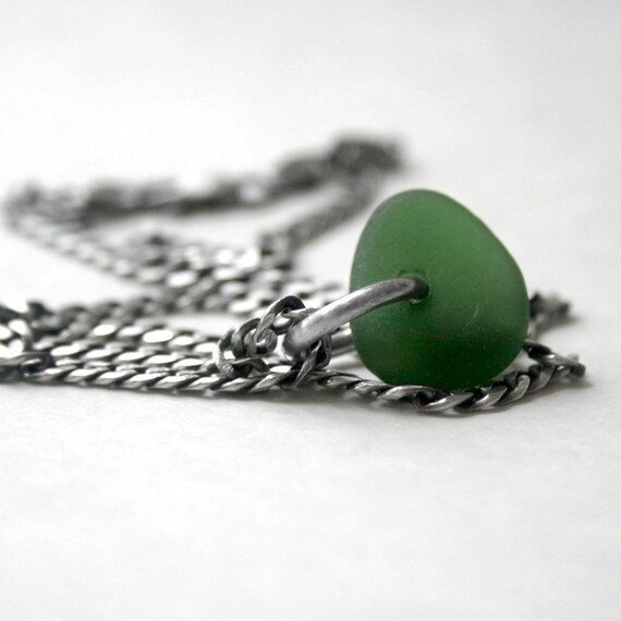 Reserved for Kelly -  Green Seaglass Pendant