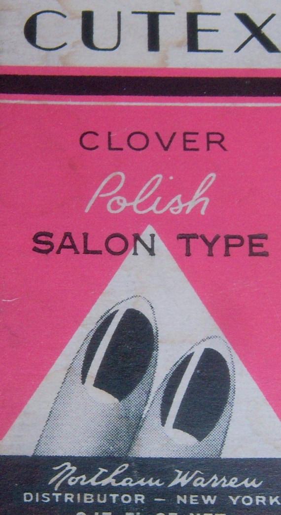 Antique vanity vintage Art Deco  Cutex nail polish box  Fantastic graphics on the front of fingernails