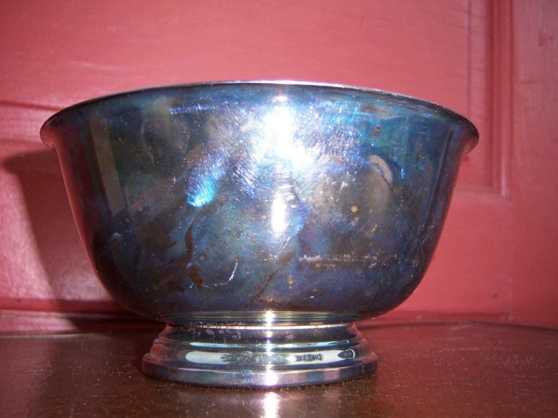 Vintage Oneida Silver Plate Bowl Dish By Vintagethisretrothat