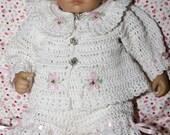 Cheryl's Crochet CC47-Sweet Dasiy Baby Layette 0-3 Months Pattern