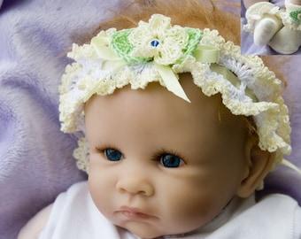 Cheryls Crochet CC49-Ruffled Headband  and Sock Set Pattern