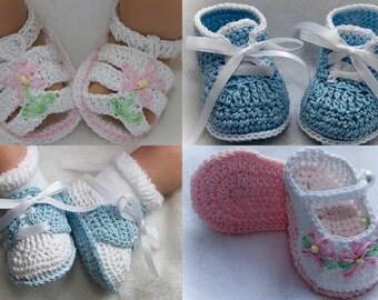 Cheryl's Crochet CC65-Assorted Grace Booties PDF Pattern