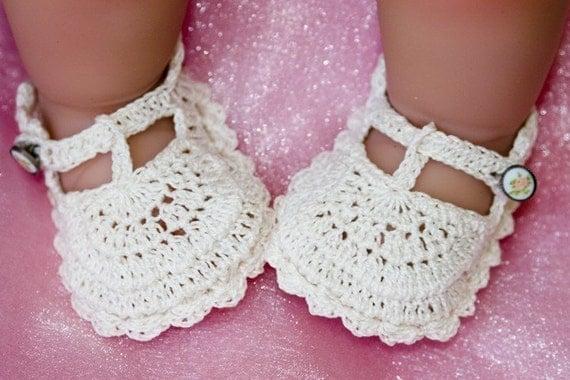 Cheryls Crochet CC2 Fancy Crochet T-Strap Baby Booties PDF Pattern