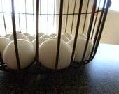 SALE Vintage Antique Primitive Rustic Egg and Gathering Wire Basket