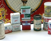 Instant Collection Vintage Metal Spice and Other Cans