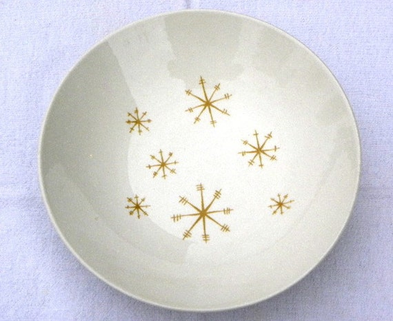 Vintage 50s 60s Gold Star Glow Royal China Ironstone Vegetable Serving Bowl