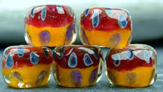 CrazyCatGlass Lampwork Boro Beads Spicy Hot Stones (5)