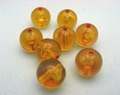 80 Vintage Lucite Topaz Round Beads FF12 Going out of business sale Use coupon code 50OFF at checkout for a discount