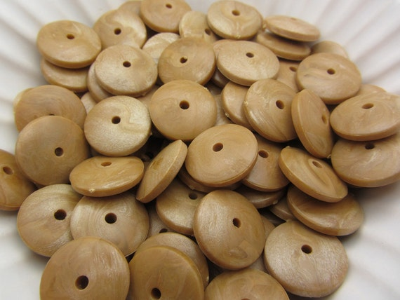 Lot of Poor Quality Vintage Light Brown Marbled Spacer Beads KKK14 Sale Use coupon code 40OFF at checkout for a discount