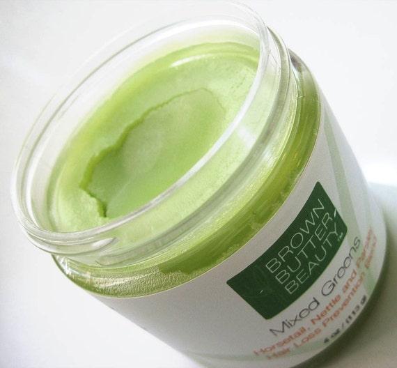 Mixed Greens Hair Pomade - Organic Horsetail, Organic Nettle, OrganicParsley Hair Butter - 4 Ounces