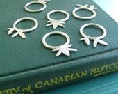 Lotus Stacking Ring Sterling Silver