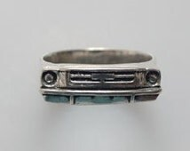1964 Ford Mustang Ring in White or Gold Bronze
