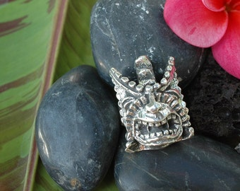 The Big Fertility Tiki Ring (Large Design) in White or Gold Bronze