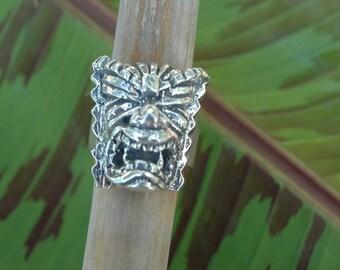 The Big Kala Tiki (God of Prosperity) Ring in Sterling Silver