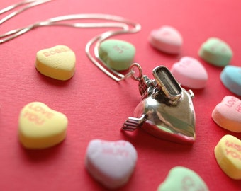 Motor Heart Necklace for your Gearhead/Gearheart in Sterling Silver