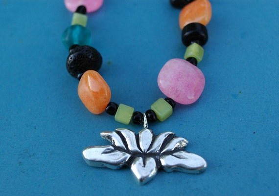 Licorice Lotus Candy Necklace