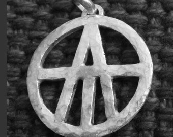 Sterling Silver Atheist Pendant (Heavy Sterling)
