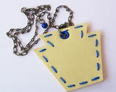 Pittsburgh Pride - Keystone State Silhouette Vinyl Necklace - Yellow and Blue