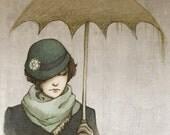 "Winter Rains - Mini Art Print 4x5"""