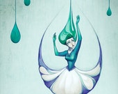 Raindrops - Mini 4x6 Art Print