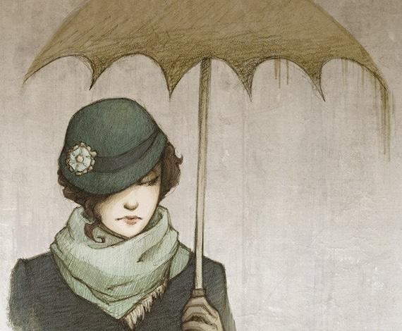 Winter Rains - Large Signed Print 11x14