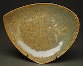 35% OFF SALE -- Plate in LIchen -- Handbuilt Porcelain