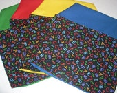 24 ABC CHAIR POCKETS  24  abc print  Sturdy Durable Cotton Twill with special pocket