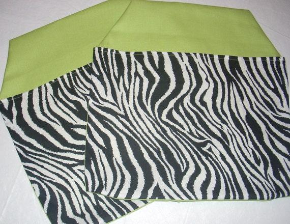 1  Zebra CHAIR POCKETS Seat Sacks red Sturdy Durable Cotton Twill