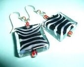 SALE - Beautiful Zebra Bead  earrings by kimbolina