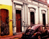 Echoes (Colour Limited Edition Signed Photographic Print) Mexico, Colonial, Colourful, Vintage Car, Original Art