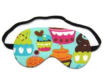 Blue Sugar Cupcakes Sleep Eye Mask