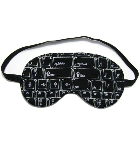 Black Computer Keyboard Sleep Eye Mask