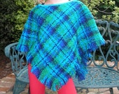 Vintage Pure Wool Boucle Poncho or Cape - Size 2 to 6 (2T to 6T)