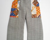 Vintage Pocket Pants - Size 0 1 2 and 3 (6 months, 1T, 2T and 3T)
