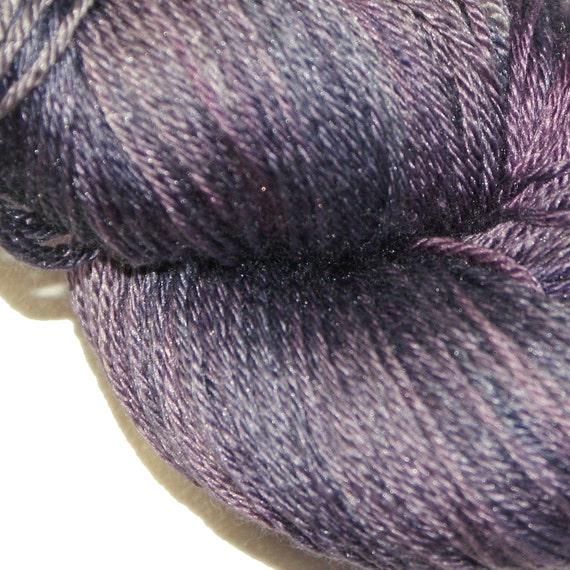 VICTORIAN LILAC in Hand Dyed Poet Seat Fingering Weight Superwash Merino and Silk Yarn